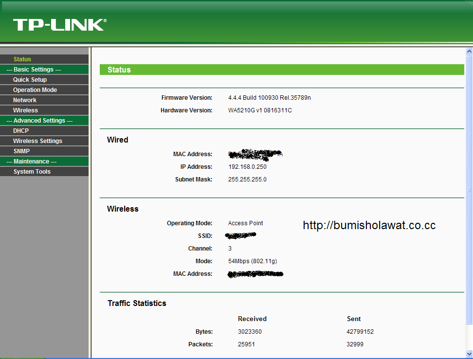 how to change tp link access point password